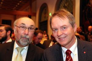SPD Bezirksräte Wolfgang Bähner und Volkmar Thumser