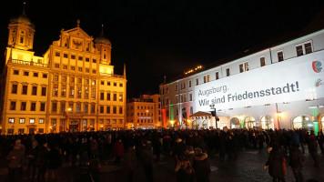 Mahnwache gegen Rechtspopulismus und AfD-Neujahrsempfang