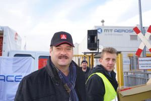 Kundgebung der Belegschaft von MT-Aerospace
