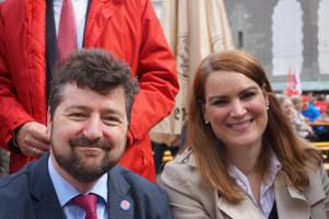 3. BGM Dr. Stefan Kiefer (SPD) und 2. BGM Eva Weber (CSU) strahlen um die Wette....