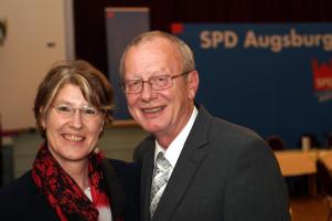Ulrike Bahr mit Stadtrat Ulrich Wagner.