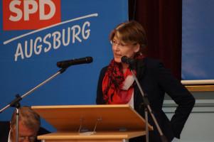 MdB Ulrike Bahr schwor die Genossen auf den Wahlkampf ein.