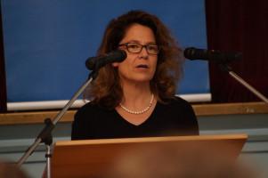Die Fraktionsvorsitzende der Stadtratsfraktion, Margarete Heinrich, berichtete von der Halbzeitbilanz im Rathaus.