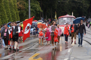 Mitglieder der SPD-Fraktion und Ortsvereinsvorsitzende verteilten Süßes
