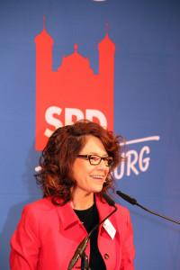 Margarete Heinrich, Fraktionsvorsitzende der SPD-Stadtrats-Fraktion