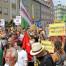 Gegen-Demo zur Nazi-Kundgebung am Friedensfest 8.8.2015