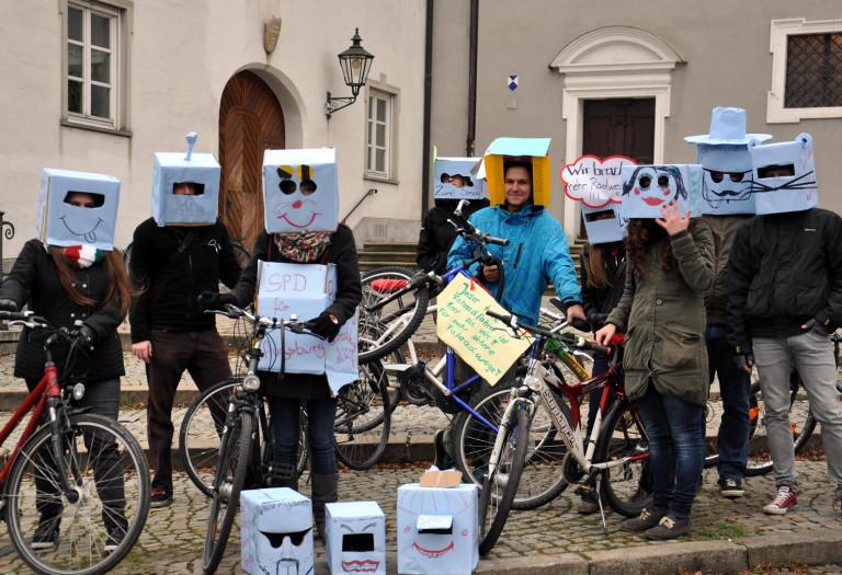Jusos Rad-Demo in Augsburg